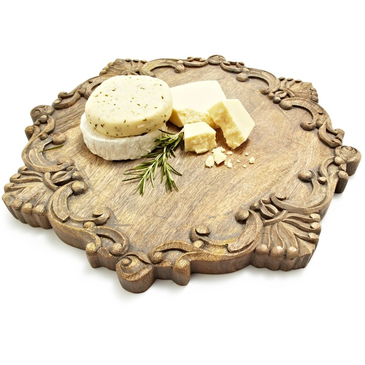 Antiqued Scroll Round Cheeseboard At Sur La Table