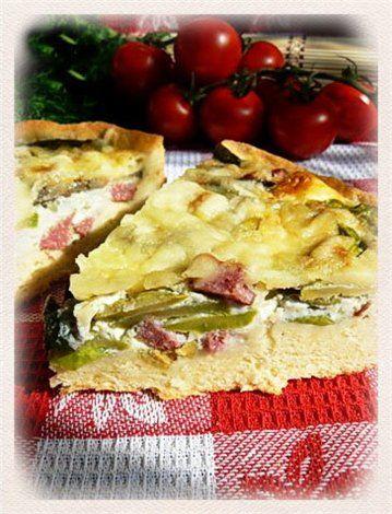 Ароматный овощной пирог с салями : Простые рецепты для вкусной жизни