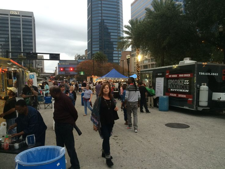Downtown Jax for a Food Truck Rally