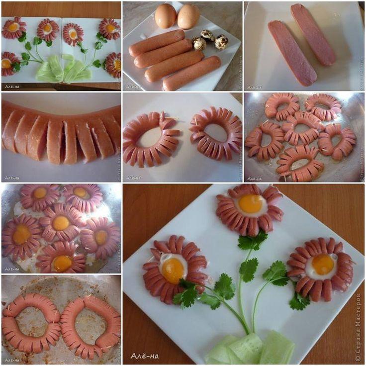 Food Art Plate – Hot Dog Daisy