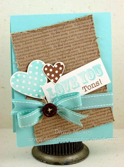 ♥: Colors Combos, Warm Colors, Scrapbook Cards, Aqua Blue, Diy And Crafts, Cards Valentines, Homemade Cards, Valentines Cards, Heart Cards