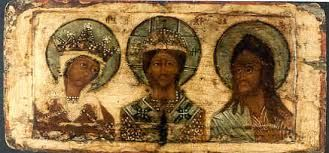 Black Russian Biblical Icons of old...Yes that is Jesus Christ in the middle before all the biblical images were changed/whitewashed.