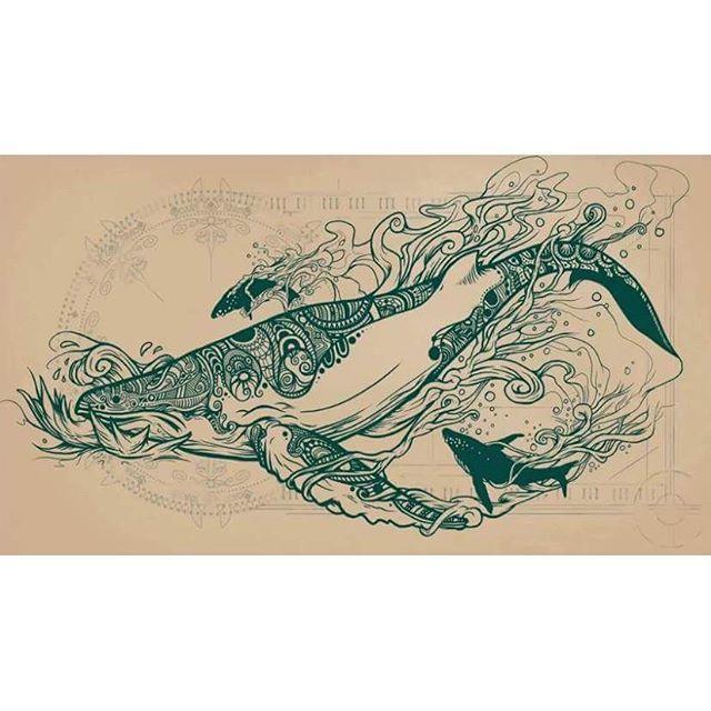 #whale #whales #sea #ocean #drawing #tattoo #balena #balene #mare #oceano #disegno #art #totem #arte
