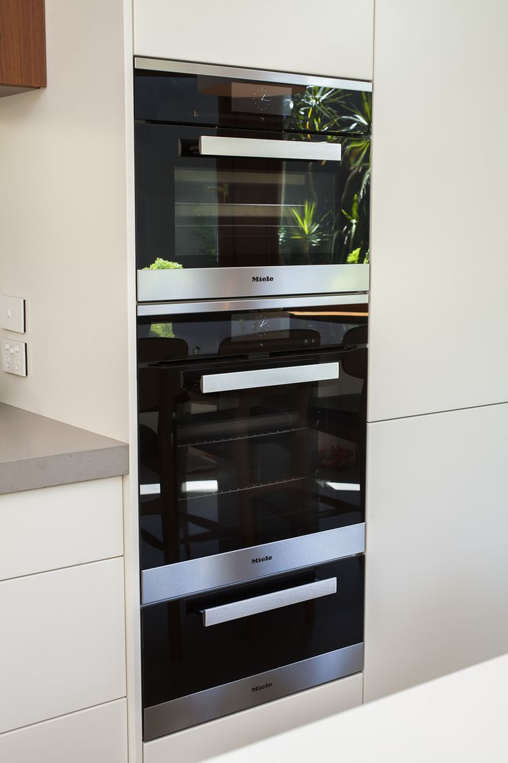 stanmore terrace project miele 6000 appliance stack - Contemporary Kitchen Appliances