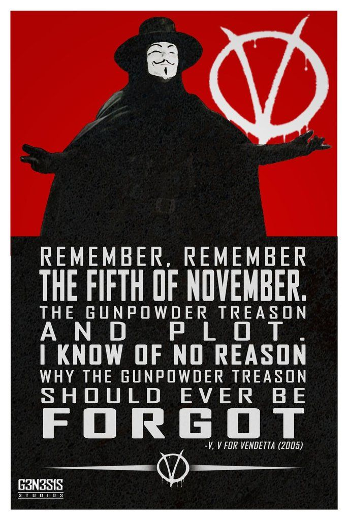 V for Vendetta quote from g3n3s1s studios