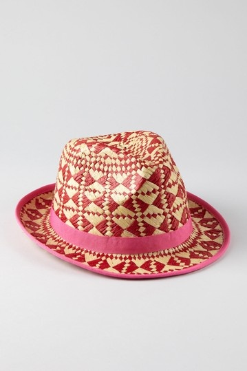 Multi Woven Fedora - Red
