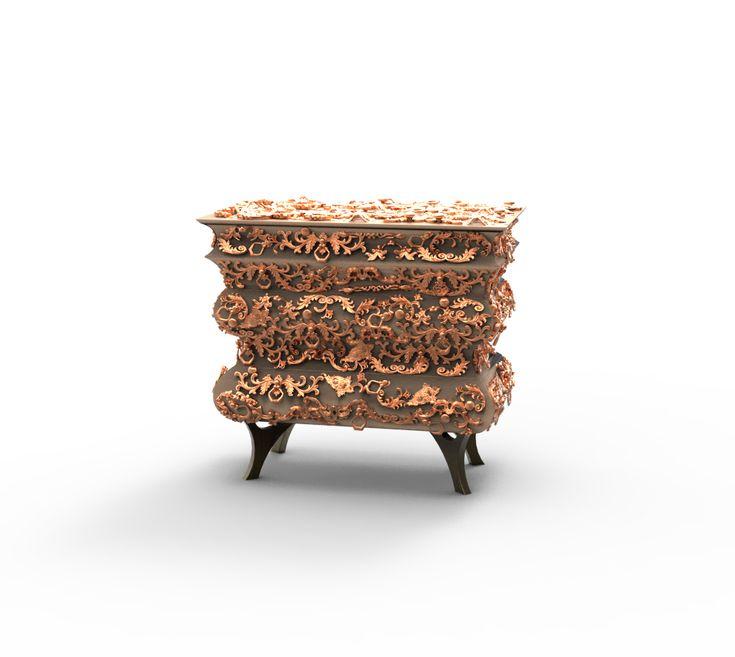 Crochet Chest By Boca do Lobo | www.bocadolobo.com #bocadolobo #luxuryfurniture #luxurydesign #bespoke #furnituredesign #chest