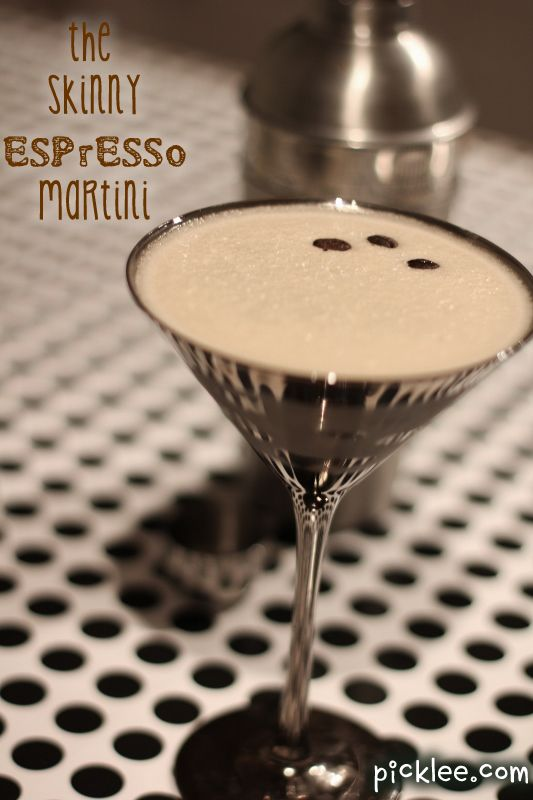 the skinny espresso martini - whipped cream vodka, espresso (or strong coffee) & a splash of Bailey's Irish Cream