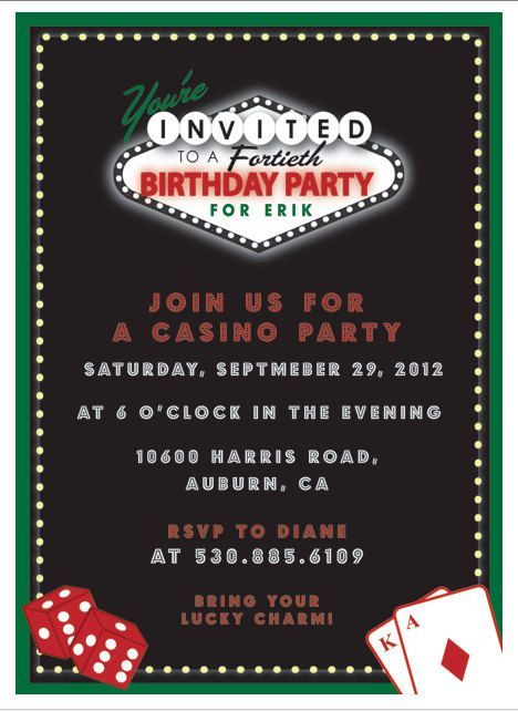 Agile image throughout free printable casino party invitations