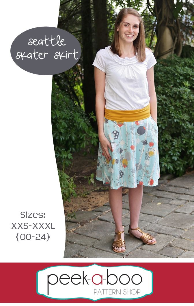 Seattle Skater Skirt Skirt Patterns Sewing Skirts Circle Skirt