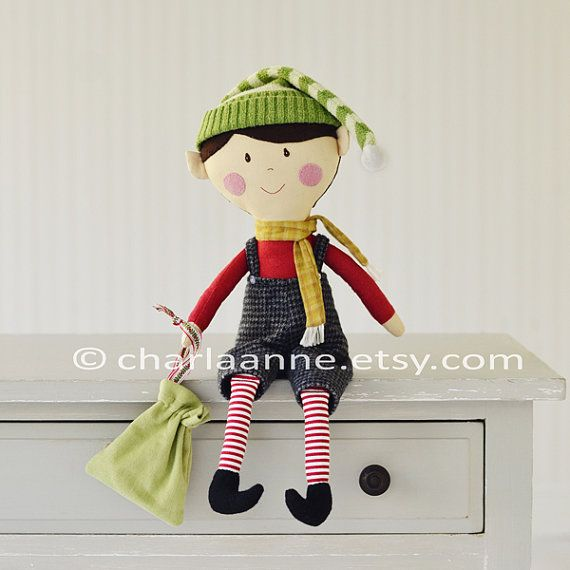 Love this little elf doll! elf doll pdf pattern/tutorial by charlaanne on Etsy, $19.50