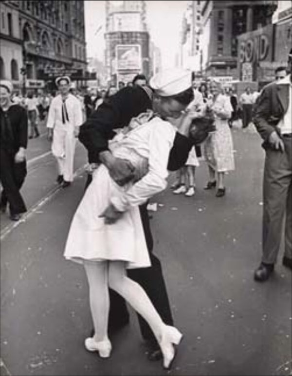 By Alfred Eisenstaedt. For some reason I've always liked this pic. Maybe it reminds me of the sheer joy that comes with relief!