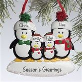 Personalized Family Christmas Ornaments - Penguins - Ornament Gifts