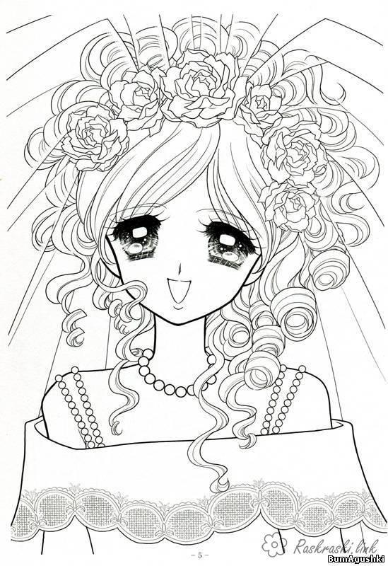 раскраски для девочек аниме: 19 тыс изображений найдено в ...