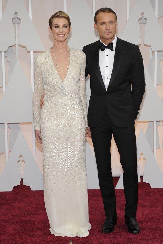 Oscary 2015:Faith Hill w sukni J.Mendel i Tim McGraw, fot. East News