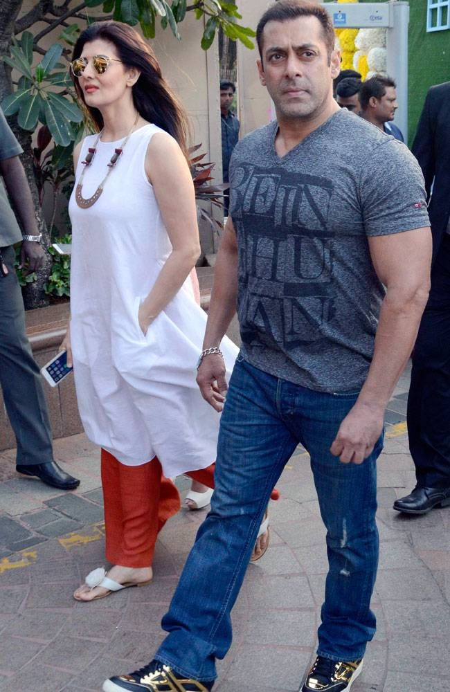 Salman Khan with Sangeeta Bijlani at Arpita Khan Sharma's baby shower. #Bollywood #Fashion #Style #Beauty #Hot #Handsome