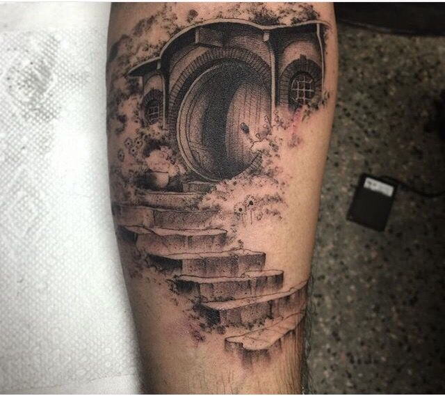 Bag end tattoo