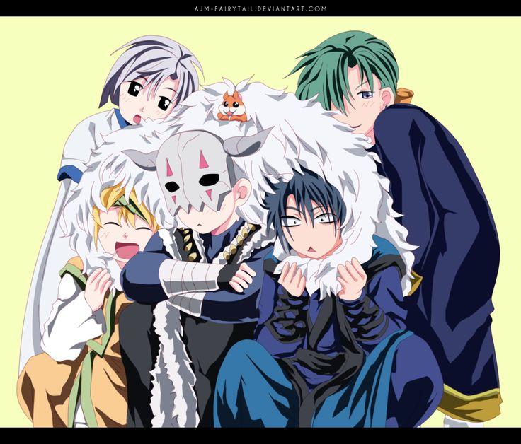 Akatsuki no Yona / Yona of THE dawn anime and Manga || the dark dragon and the happy hungry bunch. Hak Kihal Jaeha Zeno and shin ah so cute