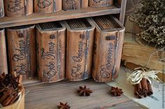 Купить Библиотека гурмана - набор для специй - шкатулка, шкатулка-книга, книга-шкатулка, библиотека