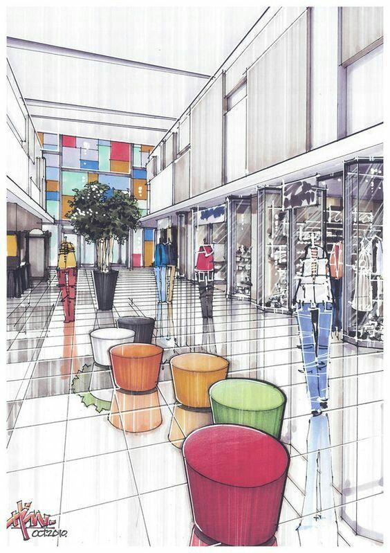 Perspectiva centro comercial