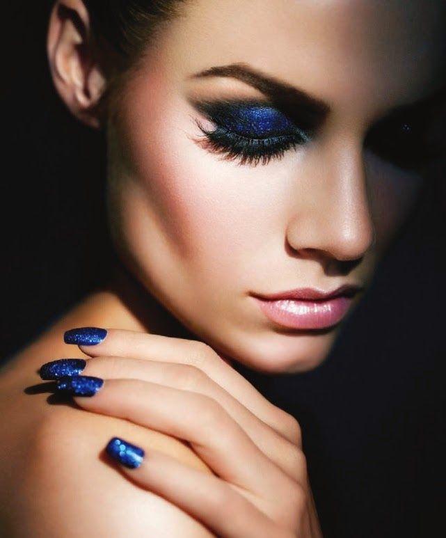mykonos ticker: Navy tones στα Νύχια!! Μπλε, σε κάθε του απόχρωση!...