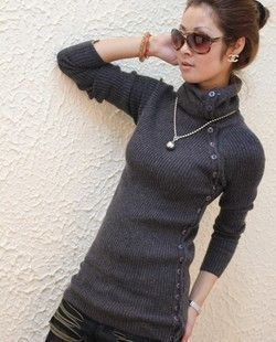 women's medium long sweater turtleneck wool women's sweaters pullovers+free shipping-in Pullovers from Apparel & Accessories on Aliexpress.c...