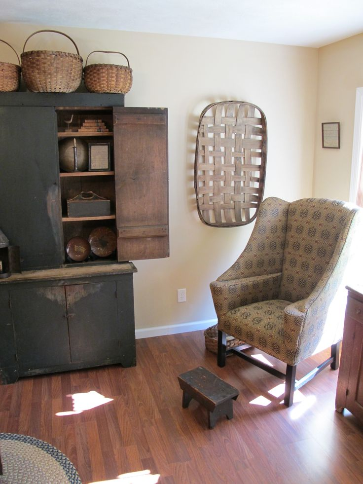 Early Green Stepback And Fireside Chair By Johnston