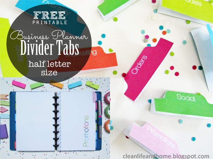 162 best Dividers  Tabs for My Planner images on Pinterest - folder dividers tabs
