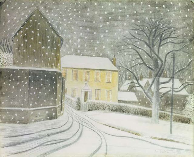 """Halstead Road (Castle Hedingham) in Snow"" by Eric Ravilious"