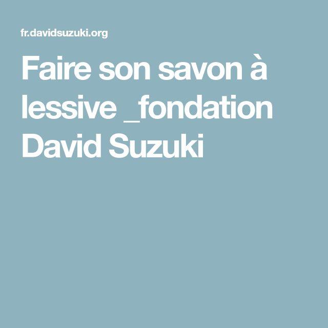 Faire son savon à lessive _fondation David Suzuki