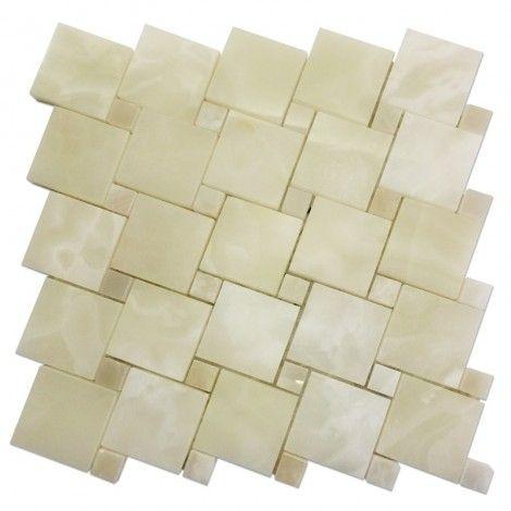 White Onyx - Onyx Tile Collection #Onyx_Tiles #White_Onyx_Mosaic_Tiles #Onyx_Tile_Collection