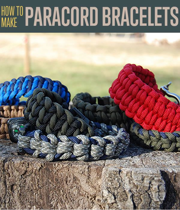 How to make a paracord bracelet including instructions for different knots, braiding and weave patterns. 550 survival paracord bracelets with easy tutorials