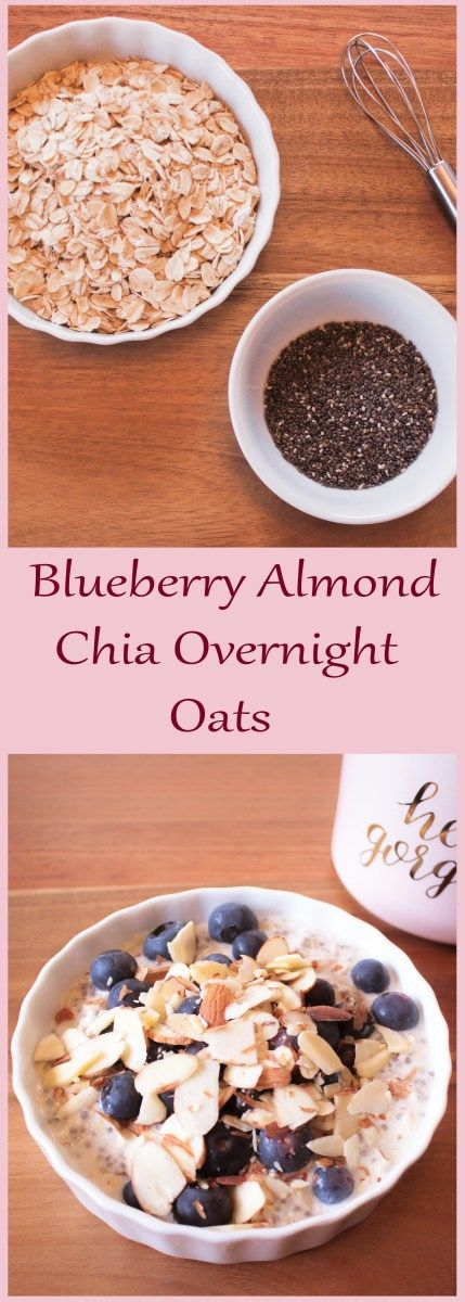 Blueberry Almond Chia Overnight Oats | Vegetarian | Healthy Breakfast | Meal Prep