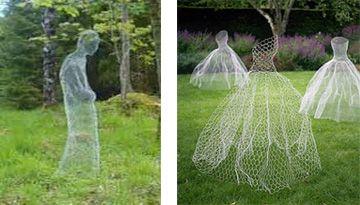 Ghosts made of chicken wire.