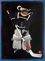 Hockeyspelare by Gösta Gan Adrian-Nilsson