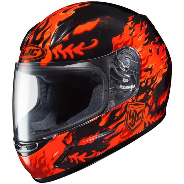 HJC CL-Y FLAME FACE