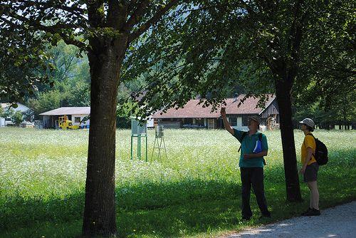 MSC UNIPD lezione a cielo aperto all'oasi naturalistica. Vincheto di Celarda, luglio 2013