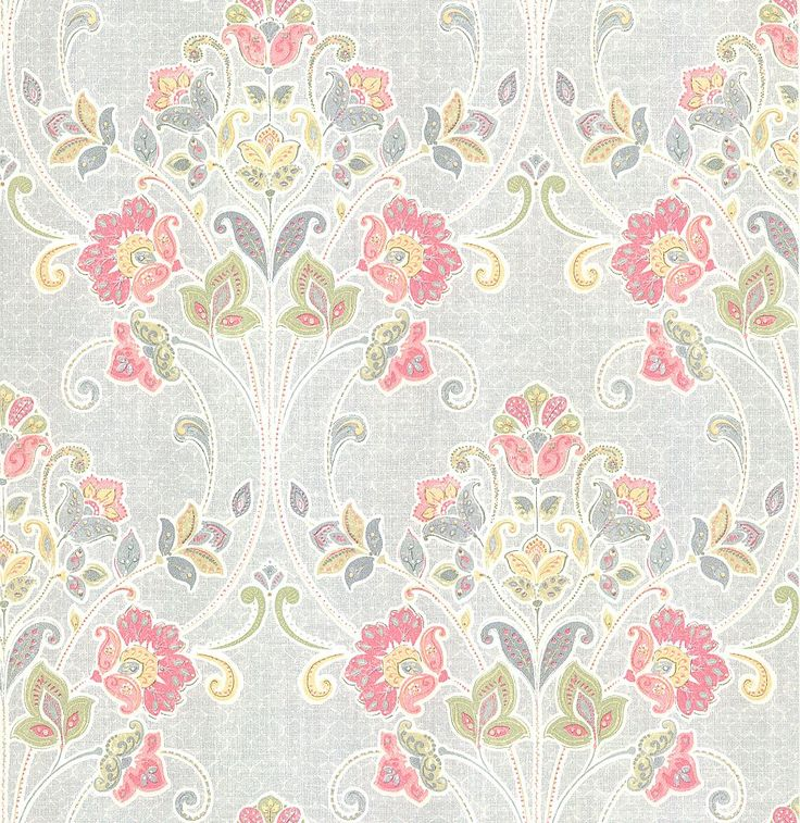 Delhi Floral Grey Wallpaper By Albany