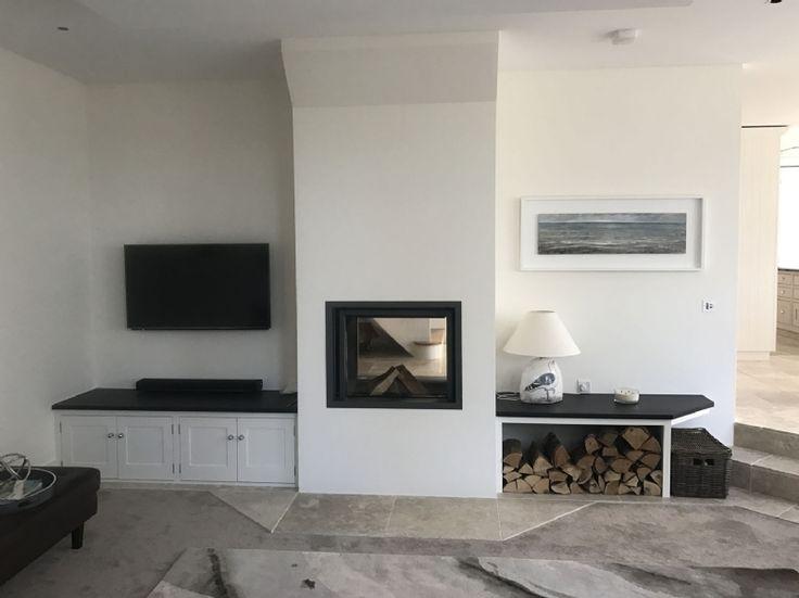 Double sided wood burner in Cornwall, Stuv 21