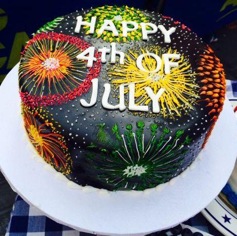 Fourth of July fireworks cake!