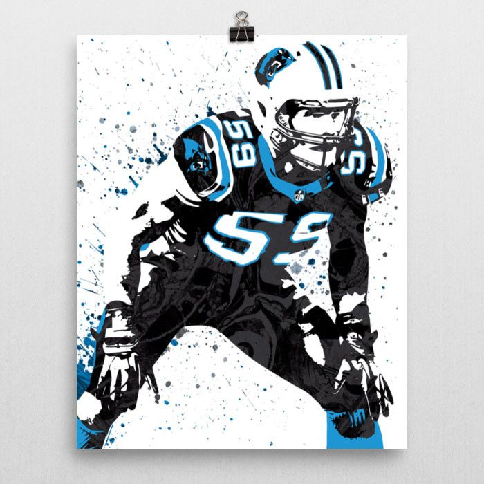 Luke Kuechhly Carolina Panthers Poster