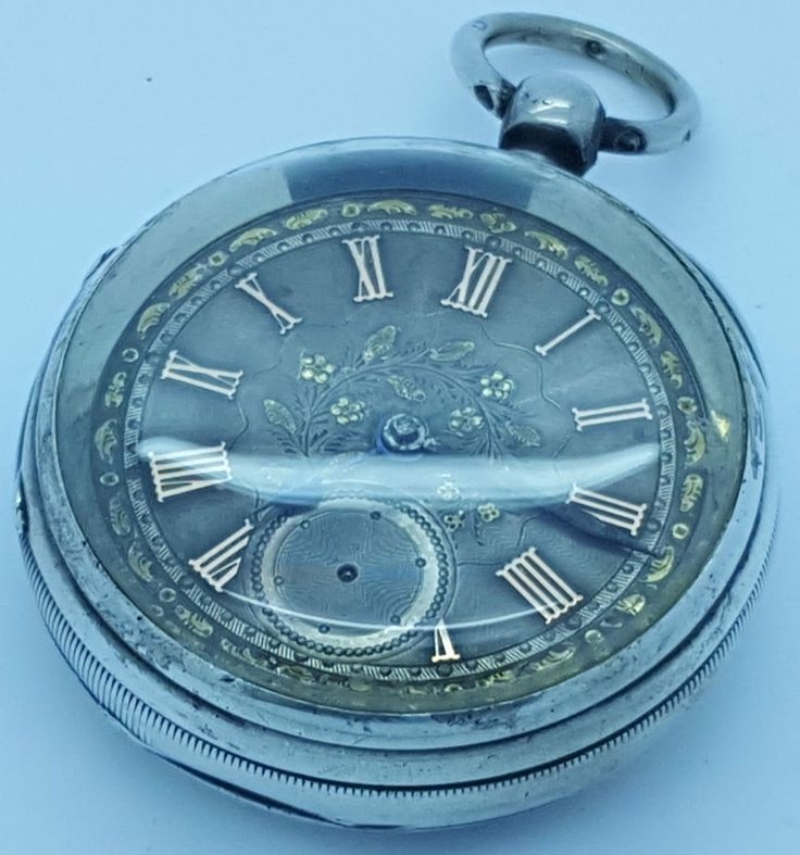 Antique Silver Pocket Watch Gold & Silver Dial - Chester 1899 Charles Horner  | eBay