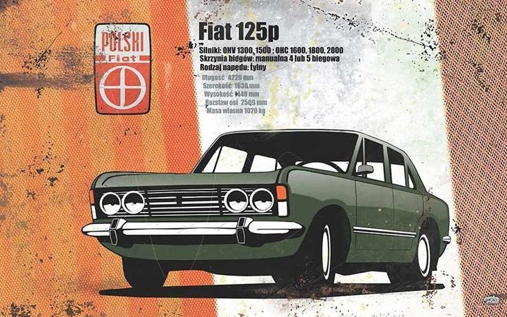 Polish Fiat 125p - old AD