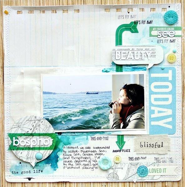 travel scrapbook page