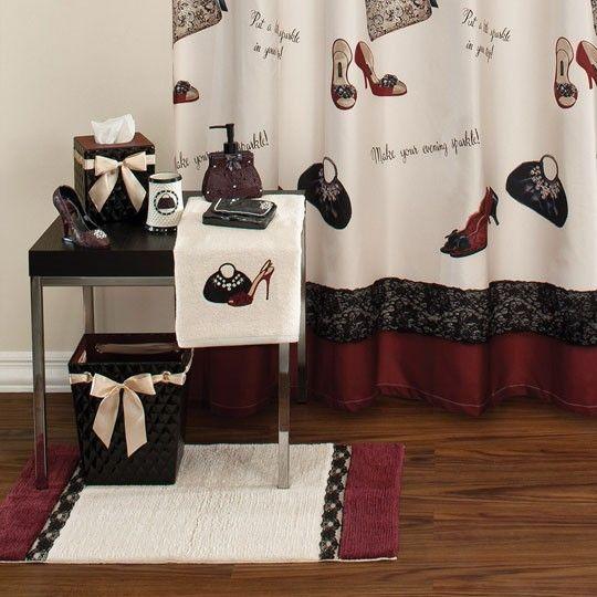 High Heel Shoe Shower Curtain