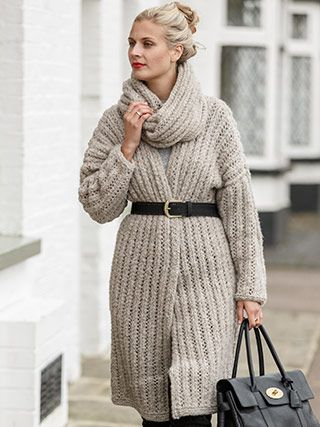 LONGLINE COAT from Winter Essential Knits A collection of 12 classic designs for women by Quail Studio. Designed to be an appealing collection where each design is wearable, and can be styled in different ways-completing your essential winter wardrobe | English Yarns http://englishyarns.co.uk/rowan-winter-essential-knits.html