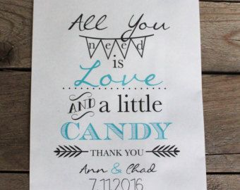 Sweet Candy Buffet Favor Bags-Treat Table-Wedding by RootedManor