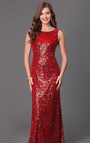 3b5027ec 40+ Long Sequin Evening Gowns Ideas | Mẫu may vá | Red sequin dress ...