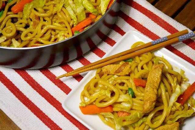 yaki udon noodles recipe | Pasta/Noodles | Pinterest