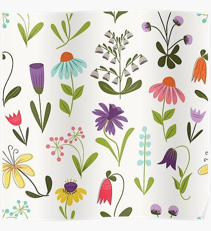 Fresh floral Poster
